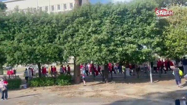 SABAH SPOR ÖZEL | Türk taraftarlar Roma'yı böyle inletti! 'Alemin kralı geliyor...'