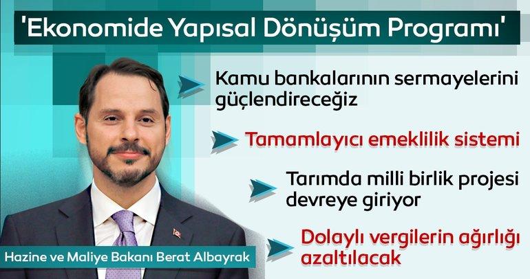 Son dakika haberi: Hazine ve Maliye Bakanı Berat Albayrak 'Ekonomide Yapısal Dönüşüm Programı'nı açıkladı