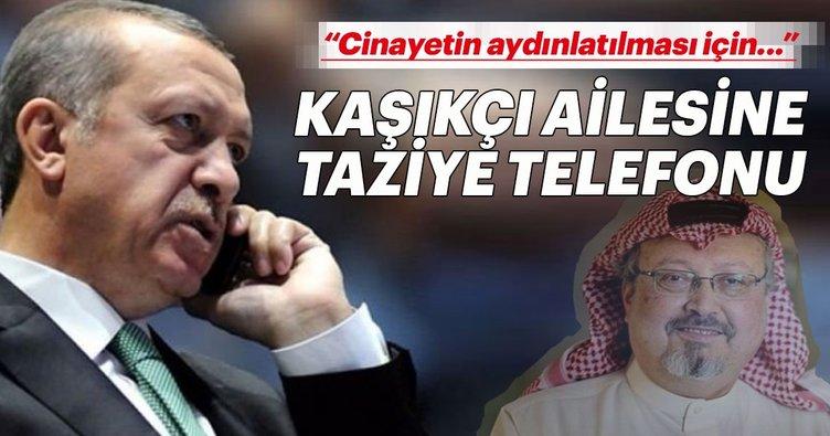 Cumhurbaşkanı Erdoğan'dan Kaşıkçı'nın ailesine taziye telefonu