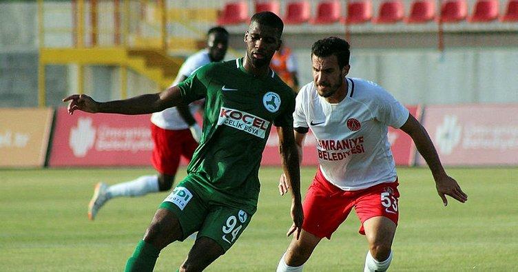 Giresunspor ilk mağlubiyetini Ümraniyespor'dan aldı
