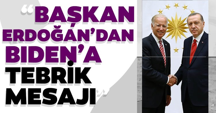 Son dakika: Başkan Erdoğan, ABD'de başkanlık seçimini kazanan Joe Biden'a tebrik mesajı gönderdi