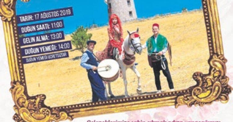 Altınköy'de köy düğünü var