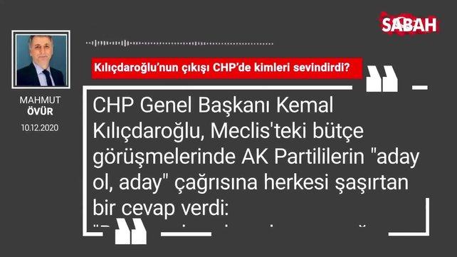 Mahmut Övür 'Kılıçdaroğlu'nun çıkışı CHP'de kimleri sevindirdi?'