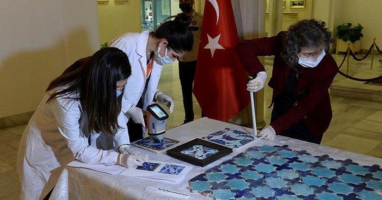 500 yıllık çiniler Türkiye'ye getirildi