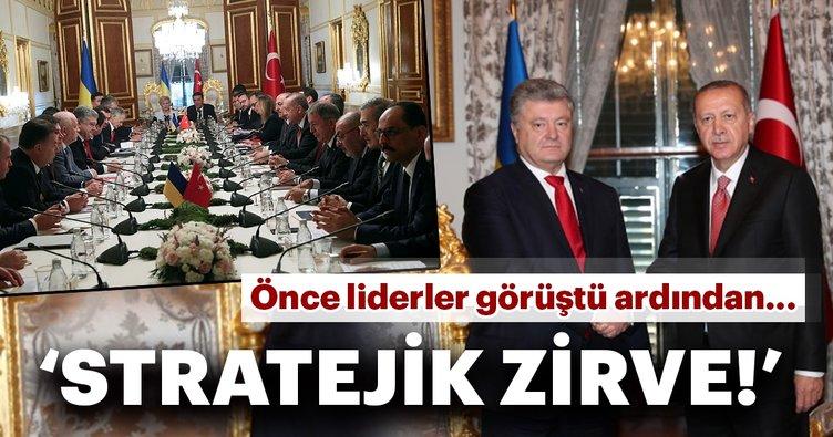 Cumhurbaşkanı Erdoğan Ukrayna Devlet Başkanı ile görüştü