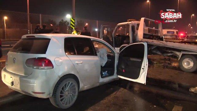 Avcılar'da polisten kaçan şüpheliler kaza yaptı | Video