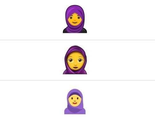 Başörtülü emoji geliyor!