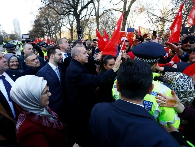 Başkan Erdoğan'a Londra'da yoğun ilgi!