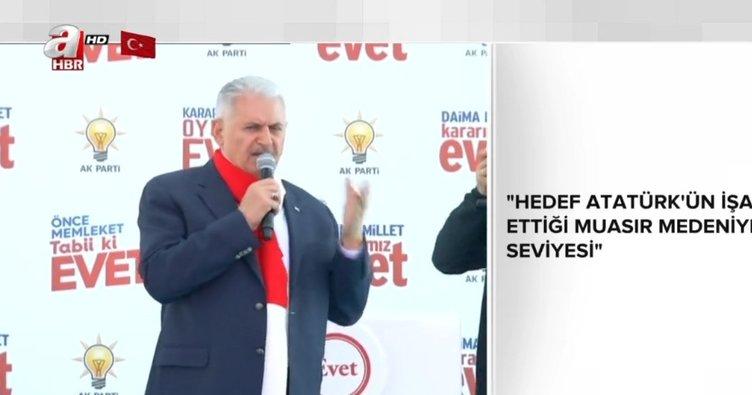 Başbakan Yıldırım'dan Edirne'de önemli açıklamalar