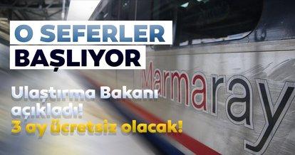 Son dakika: Marmaray ve Başkentray seferlere başlıyor! Sağlık çalışanlarına 3 ay ücretsiz