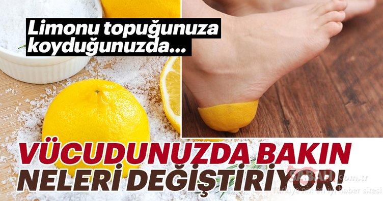 Limonu topuğunuza koyduğunuzda bakın vücudunuzda neler değişiyor!