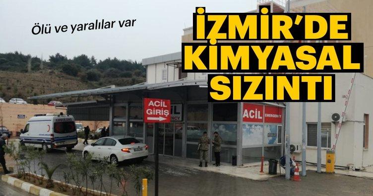 İzmir'de kimyasal sızıntı alarmı