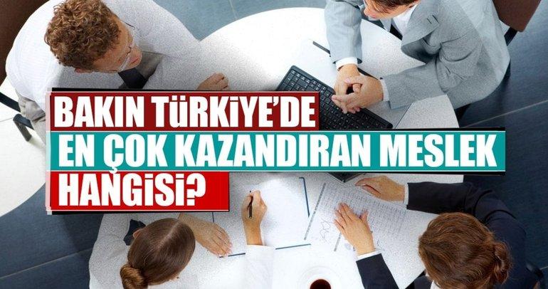 Türkiye'de en çok kazandıran meslekler!