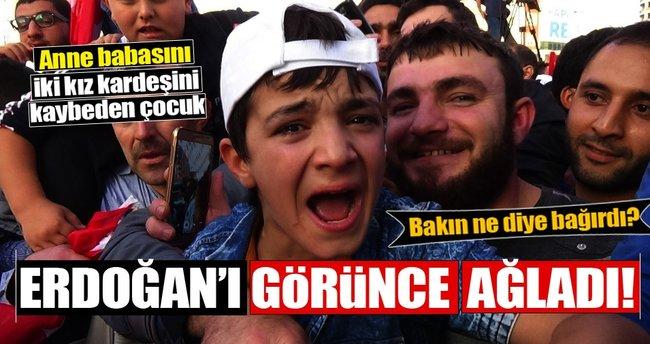 Suriyeli Abdullah, Cumhurbaşkanı Erdoğan'ı görünce ağladı!