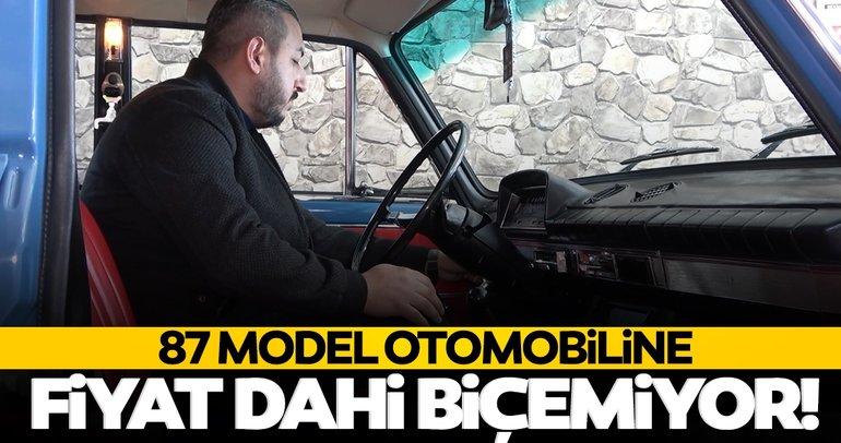 Klasik otomobillerinin örtüsünü dahi açmıyor! 87 model Murat 131'ine fiyat biçemiyor