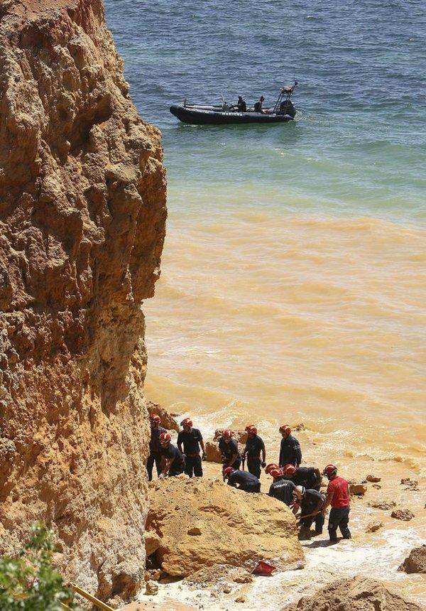Plajda falez faciası