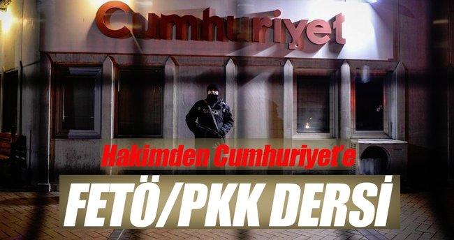 Hakimden Cumhuriyet'e terör dersi