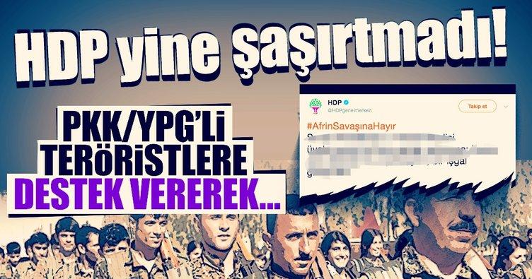 HDP şaşırtmadı! Afrin harekatına 'işgal' dediler