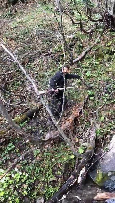 Sosyal medyayı ayağa kaldıran olayda son dakika gelişmesi! Yavru ayıya işkence eden cani gözaltına alındı