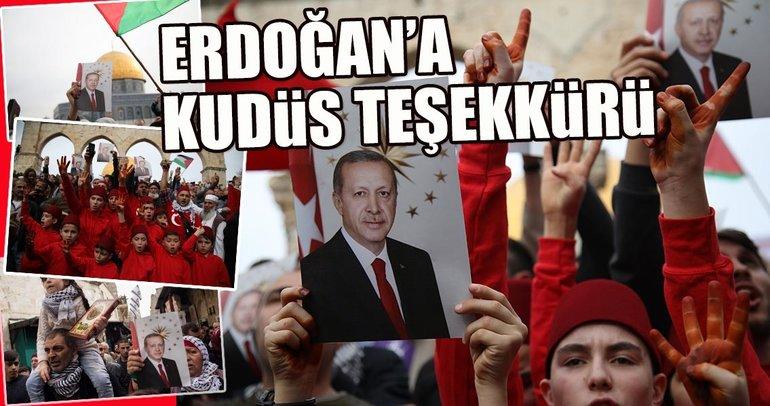 Erdoğan'a Kudüs teşekkürü