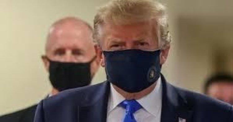 Trump ilk kez maske taktı