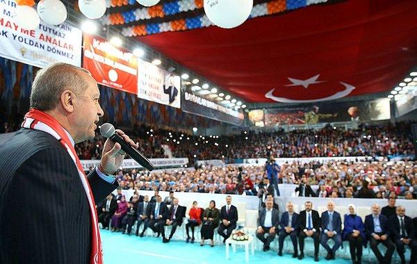 Cumhurbaşkanı Erdoğan'ın Bolu AK Parti İl Kongresi'nden yansıyan kareleri