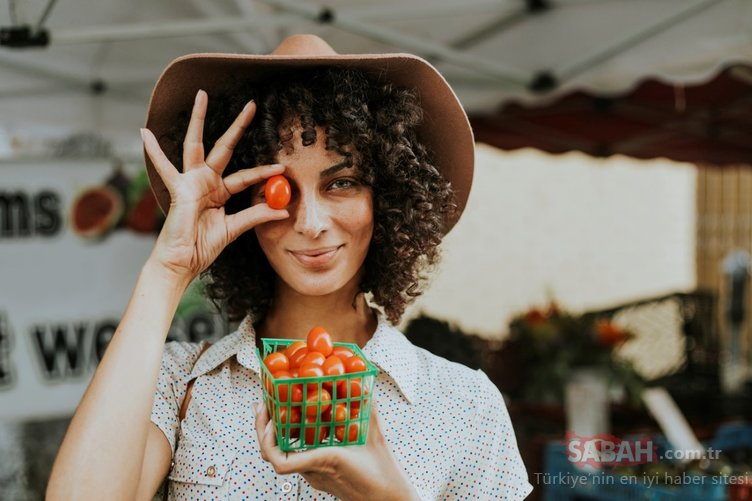 Güzel cildin sırrı karpuz ve domates