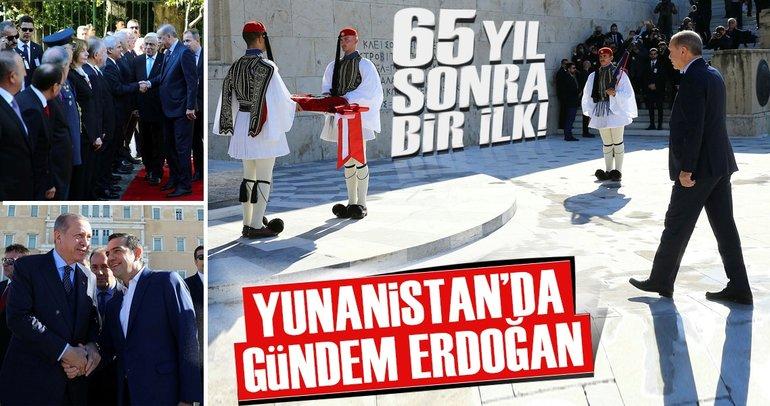 65 yıl sonra bir ilk gerçekleşti! Cumhurbaşkanı Erdoğan Atina'da