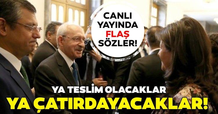 Son dakika: Canlı yayında CHP-HDP ittifakı ile ilgili flaş sözler: Ya teslim olacaklar ya da çatırdayacaklar...