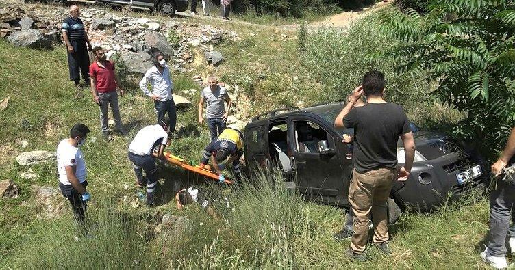 Arnavutköy'de yola çıkan inek kazaya neden oldu