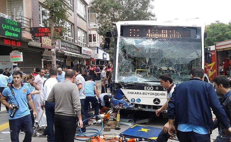 Ankara'da otobüs durağa daldı: Çok sayıda ölü var!