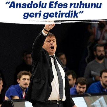 Ergin Ataman: Anadolu Efes ruhunu geri getirdik