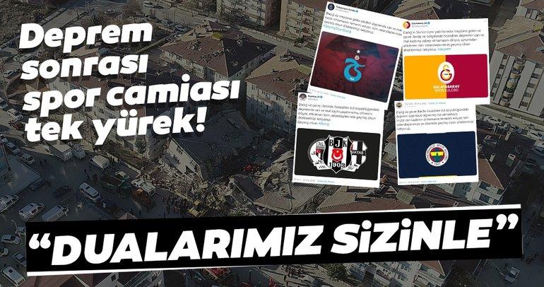 Elazığ'daki deprem sonrası spor camiası tek yürek!