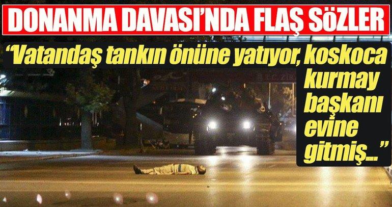 Vatandaş tankın önüne yatıyor, kurmay başkanı kılını kıpırdatmamış