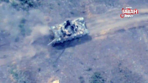Ermenistan'a ait sahra karargahı vuruldu | Video