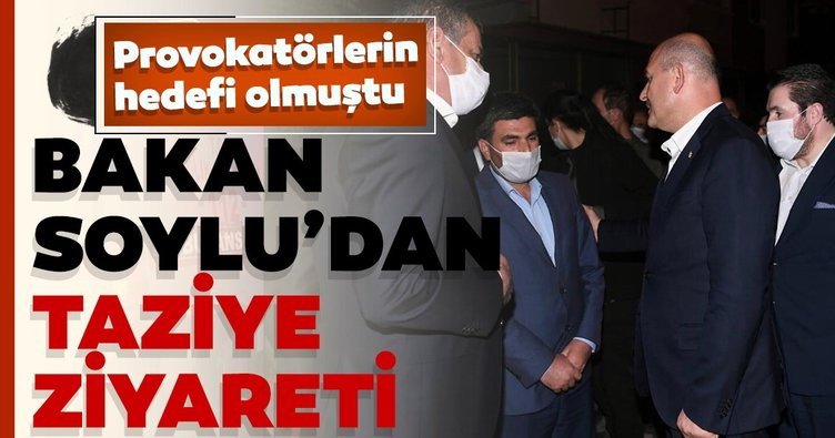 İçişleri Bakanı Soylu'dan Barış Çakan'ın ailesine taziye ziyareti