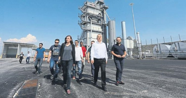 Denizli çevreci asfalt şantiyesine kavuşuyor