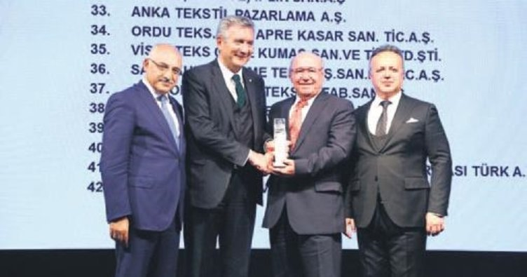 Tekstilde ihracatın özelleri ödül aldı