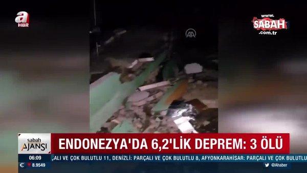 Son dakika! Endonezya'da 6,2 büyüklüğünde deprem! Ölü ve yaralılar var | Video