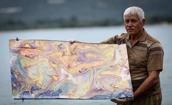 'Ebru'yu denize taşıdı