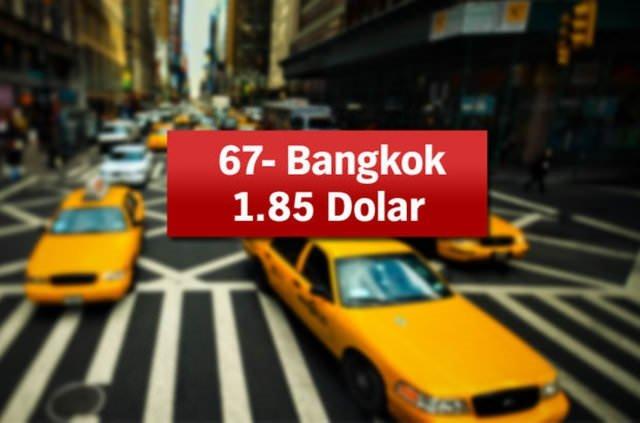 Dünya'da taksi ücretleri