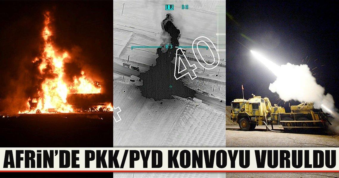 Terör örgütü konvoyu vuruldu