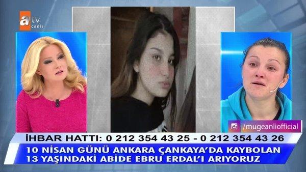 Müge Anlı'dan canlı yayında; 13 yaşındaki kızı kaçıranlara çok sert uyarı! Abide Ebru Erdal'a ne oldu?