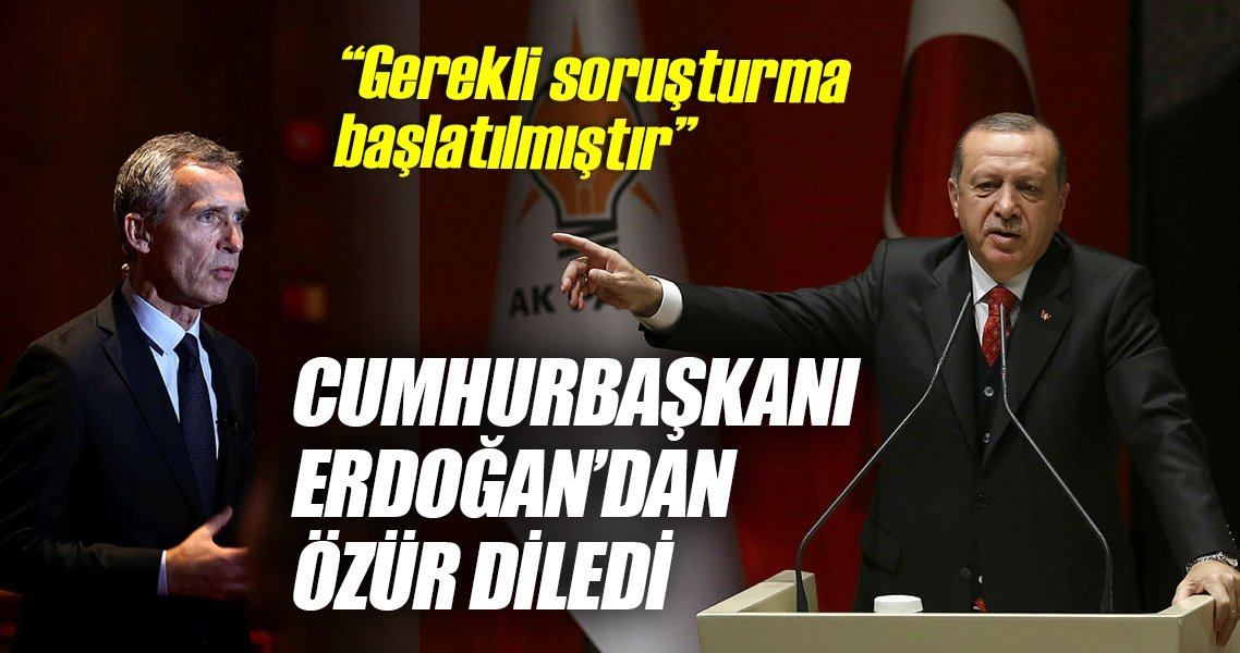 Stoltenberg, Cumhurbaşkanı Erdoğan'dan telefonla özür diledi