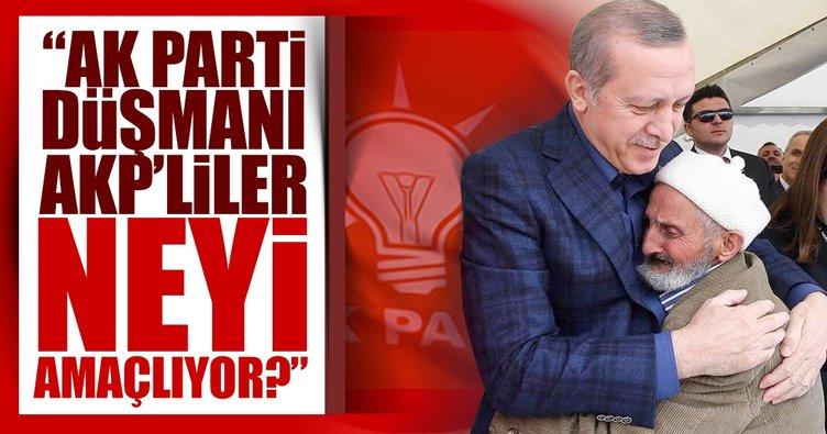 """""""AK Parti düşmanı AKP'liler neyi amaçlıyor?"""""""