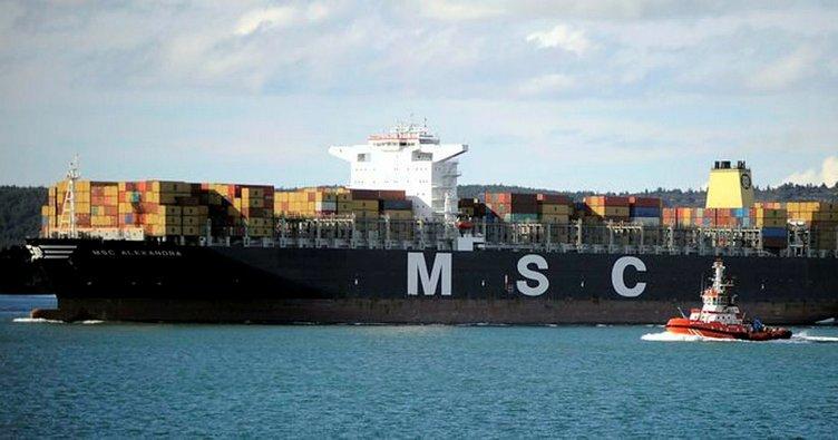 Dev konteyner gemisi MSC Oscar Tekirdağ'a geldi