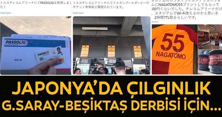 Japonya'da Galatasaray - Beşiktaş çılgınlığı