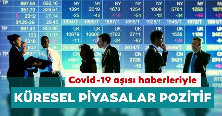 Covid-19 aşısı haberleriyle küresel piyasalar pozitif seyrediyor