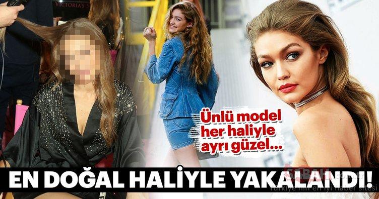 Ünlü model Gigi Hadid en doğal hali ile yakalandı! Her hali ayrı güzel...