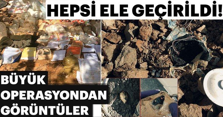 Diyarbakır'da teröristlerin inlerine girildi